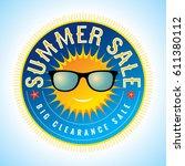 summer sale banner design... | Shutterstock .eps vector #611380112