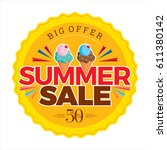 summer sale banner design... | Shutterstock .eps vector #611380142