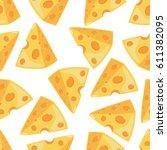 Cheese Slice Vector Seamless...