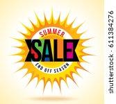 summer sale banner design... | Shutterstock .eps vector #611384276