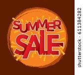 summer sale banner design... | Shutterstock .eps vector #611384282