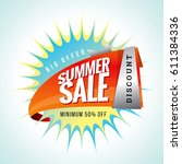 summer sale banner design... | Shutterstock .eps vector #611384336