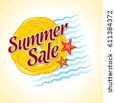 summer sale banner design... | Shutterstock .eps vector #611384372