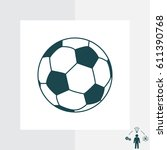 soccer  football  ball icon.... | Shutterstock .eps vector #611390768
