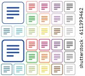 text align justify last row... | Shutterstock .eps vector #611393462