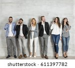 group of elegant young...   Shutterstock . vector #611397782