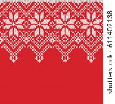 norway festive sweater fairisle ... | Shutterstock .eps vector #611402138