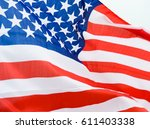 close up shot of wavy american... | Shutterstock . vector #611403338