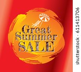 summer sale banner design... | Shutterstock .eps vector #611413706