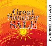 summer sale banner design... | Shutterstock .eps vector #611413805