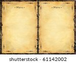 menu background | Shutterstock . vector #61142002