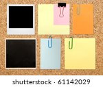 vintage notes over brown... | Shutterstock . vector #61142029