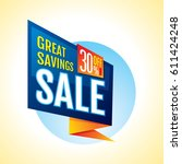 summer sale banner design... | Shutterstock .eps vector #611424248