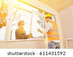 teamwork between artisan and... | Shutterstock . vector #611431592