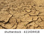 dry lake bed with natural... | Shutterstock . vector #611434418