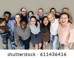diverse group of people... | Shutterstock . vector #611436416