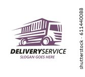 delivery service logo template. | Shutterstock .eps vector #611440088