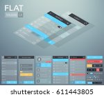 flat ui mobile menu design...