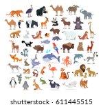 animal full length portraits... | Shutterstock .eps vector #611445515