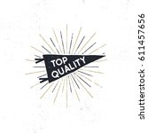 hand drawn hipster pennant flag ... | Shutterstock .eps vector #611457656