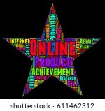 online word cloud colorful text ... | Shutterstock .eps vector #611462312