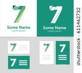 editable business card template ...   Shutterstock .eps vector #611462732