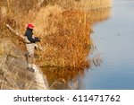 Fisherman Catch A Pike In The...