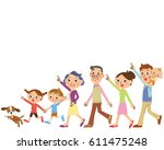 close three generation family... | Shutterstock .eps vector #611475248