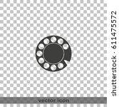 retro disk dialer flat vector...   Shutterstock .eps vector #611475572