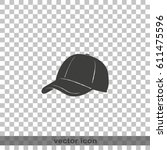 baseball cap icon. simple flat... | Shutterstock .eps vector #611475596