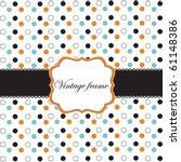 Polka Dot Design With Black...