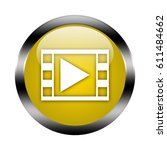 play button isolated  3d... | Shutterstock . vector #611484662