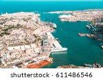 valletta  the capital city of... | Shutterstock . vector #611486546