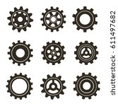 set of gears. vector... | Shutterstock .eps vector #611497682