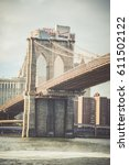 brooklyn bridge  new york  usa  ... | Shutterstock . vector #611502122