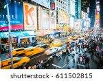 Times Square In New York  Usa   ...