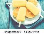 tasty refreshing summer treat ... | Shutterstock . vector #611507945