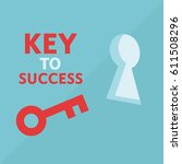 key to success in business  | Shutterstock .eps vector #611508296