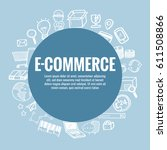 vector template for e commerce... | Shutterstock .eps vector #611508866