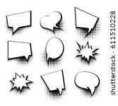 collection blank template comic ... | Shutterstock .eps vector #611510228