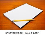 White Blank Notebook With...