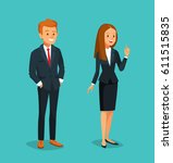 business style young man and... | Shutterstock .eps vector #611515835