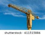 yellow crane titan in nantes ... | Shutterstock . vector #611515886