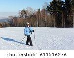 Nordic Walking   Woman In A...