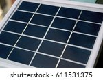 a small solar panel gadget  ... | Shutterstock . vector #611531375