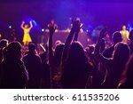 crowd at concert   summer music ... | Shutterstock . vector #611535206