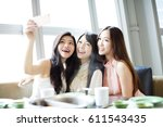happy young girl friend taking ... | Shutterstock . vector #611543435