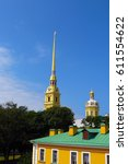 peter and paul fortress  st....   Shutterstock . vector #611554622