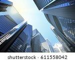 panorama cityscape modern high... | Shutterstock . vector #611558042
