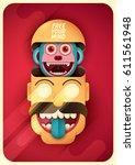 comic illustration in color ... | Shutterstock .eps vector #611561948